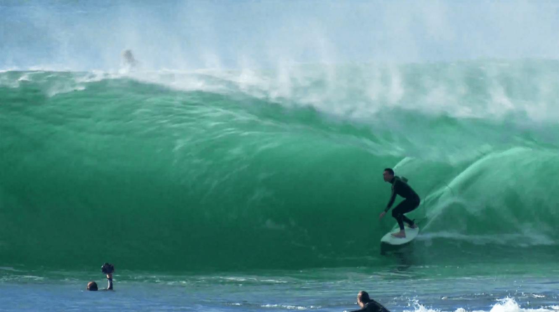 Surfing in Seaside Oregon