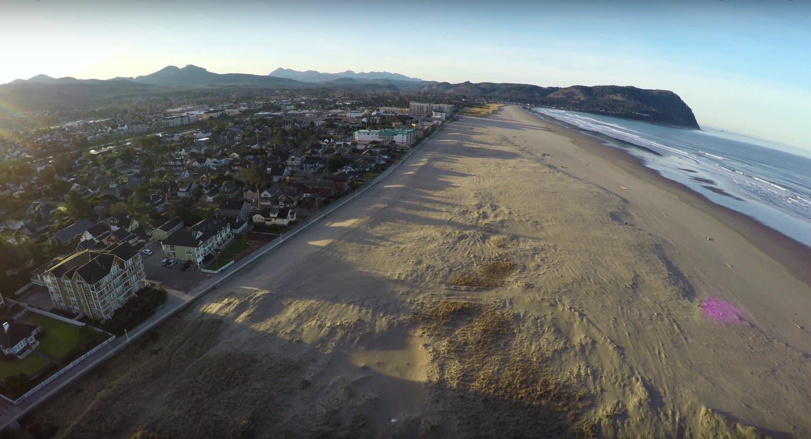 Aerial Photo of Seaside Oregon