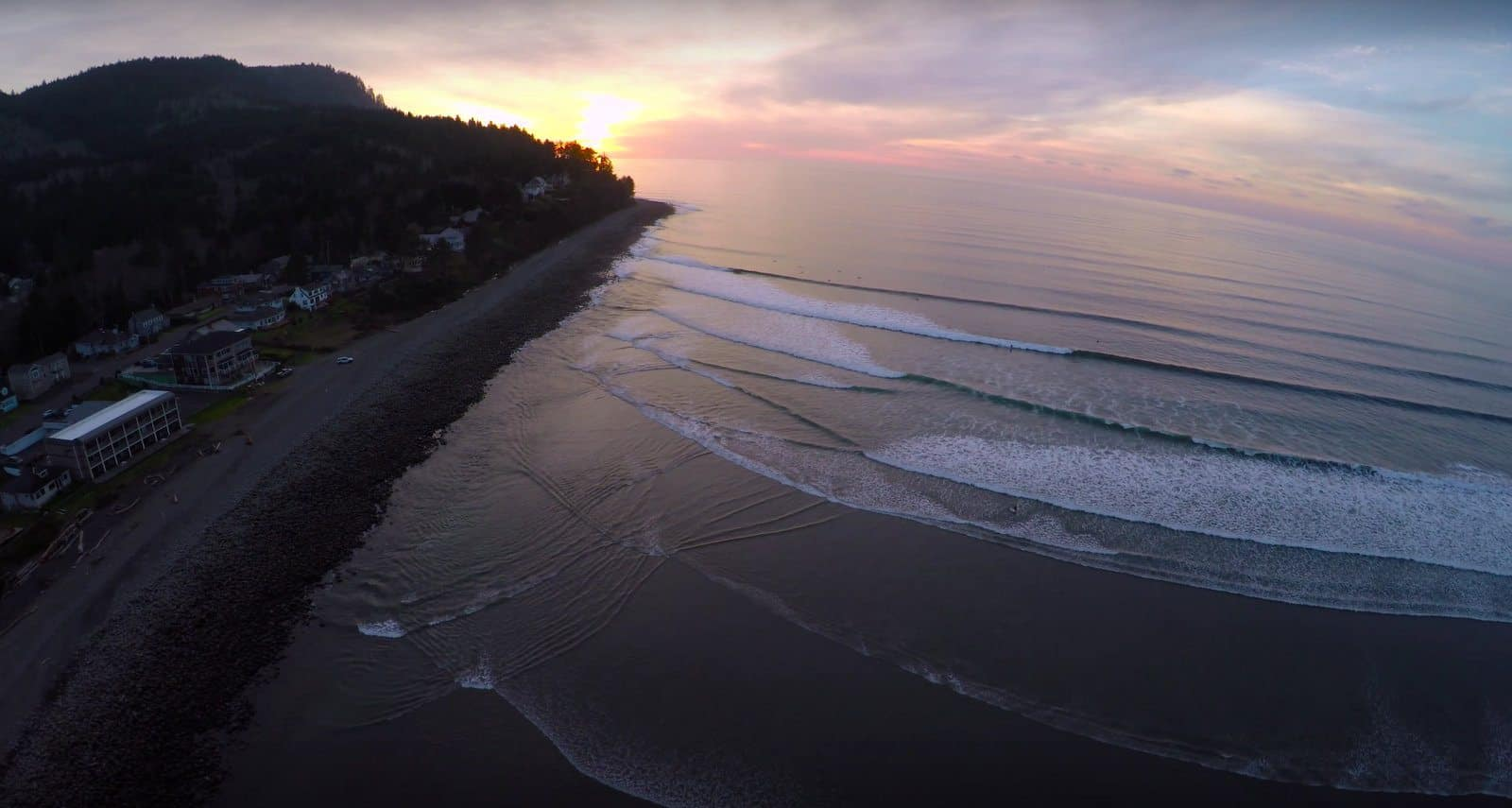 Aieral Photo of The Cove in Seaside Oregon