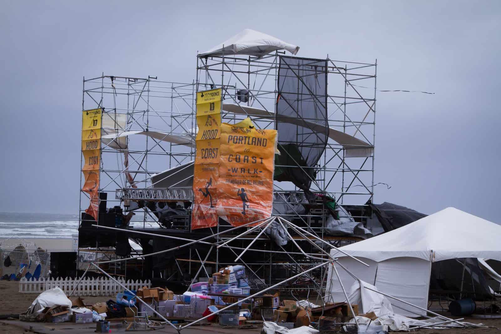 2015 Hood to Coast Destroyed Stage Seaside oregon
