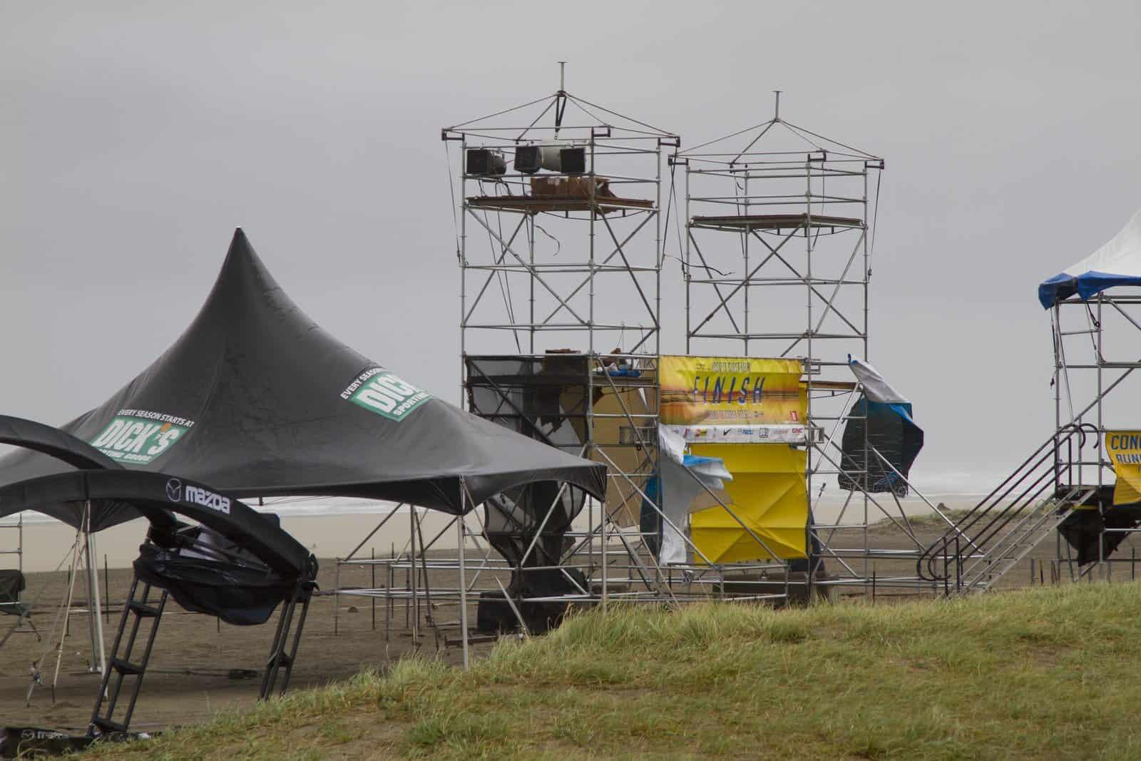Hood to Coast 2015 Finish Line Damage
