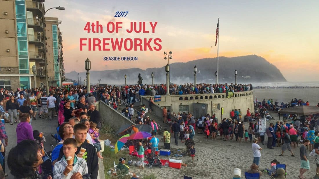 4th of july fireworks seaside oregon 2017