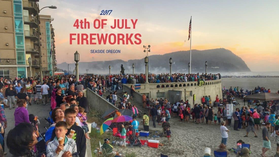 4th of july fireworks seaside oregon 2017